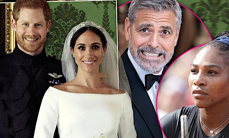 George Clooney, Serena Williams, wesele Meghan Markle i książę Harry