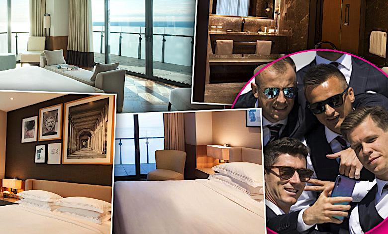 Hotel Hyatt, zdjęcia gdzie śpią piłkarz w Rosji