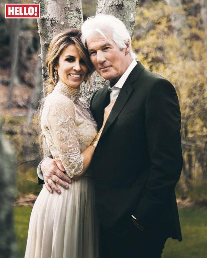 Richard Gere i Alejandra Silva – ślubne zdjęcie pary