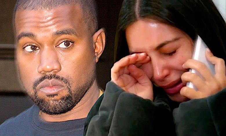 Kanye West i Kim Kardashian płacz