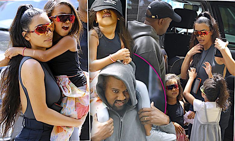 Genialne zdjęcia! Kim Kardashian i Kanye West szaleją z dziećmi na zakupach! Mała North wyrasta na ikonę stylu!
