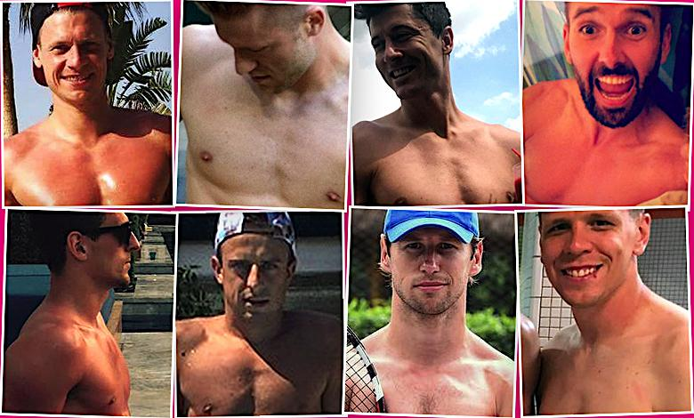 Klaty piłkarzy. Polscy piłkarze bez koszulek. Mundial 2018