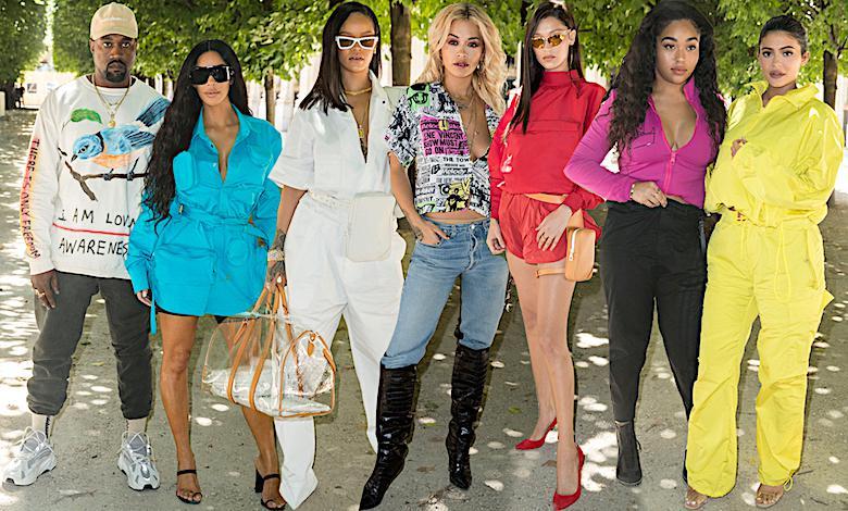 Same VIP-y na pokazie Louis Vuitton w Paryżu: Kim Kardashian, Rihanna, Rita Ora, Kylie Jenner, Bella Hadid