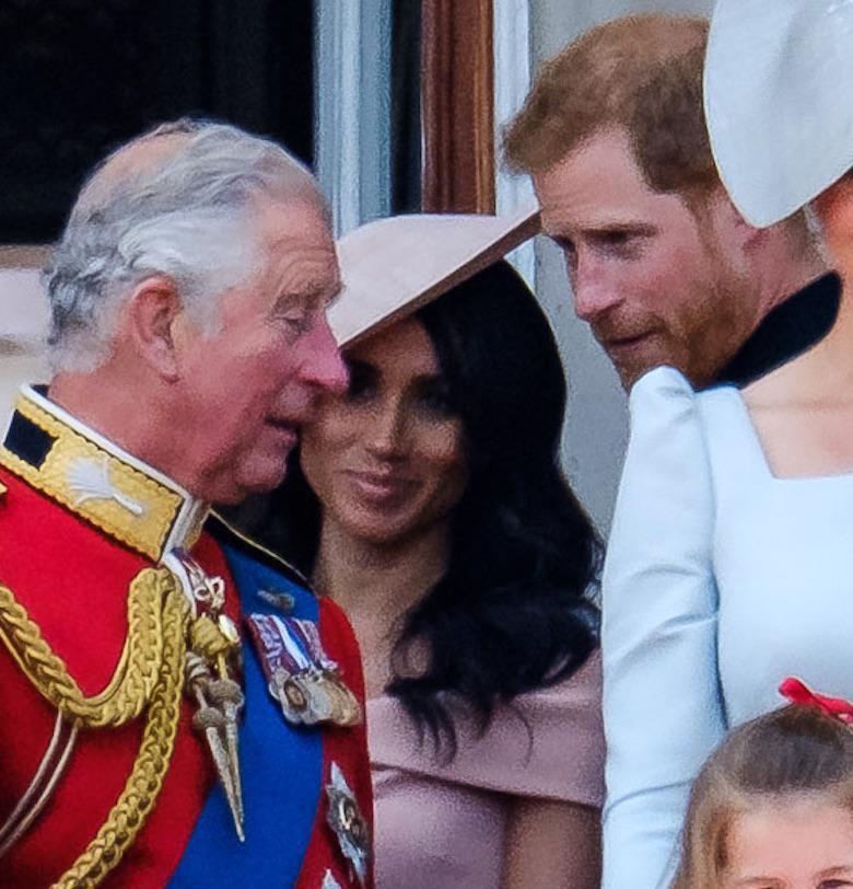 Meghan Markle, książę Harry i książę Karol