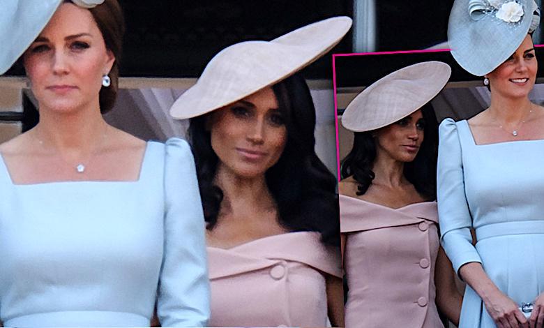 Dlaczego Meghan Markle zawsze stoi za księżną Kate