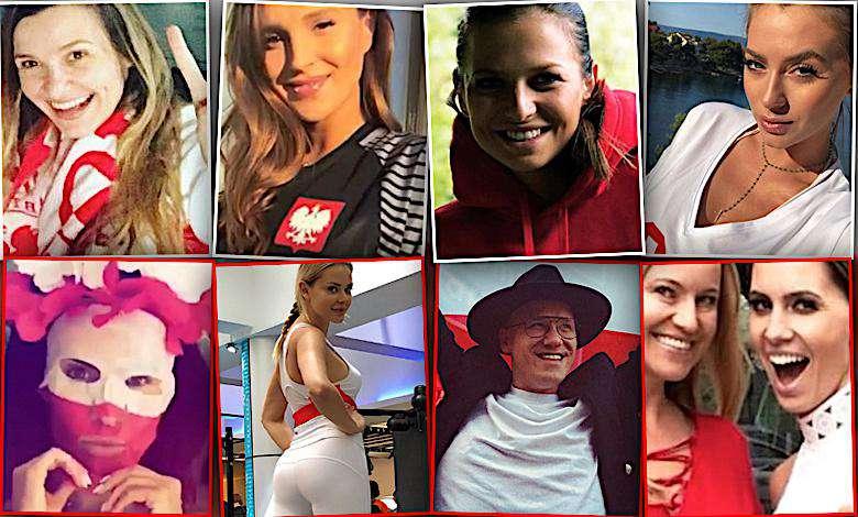 Tak gwiazdy kibicują Polsce w meczu z Kolumbią: Marina, Anna Lewandowska, Natalia Siwiec, Marcelina Zawadzka