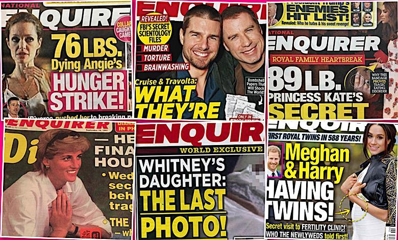National Enquirer okładki skandale
