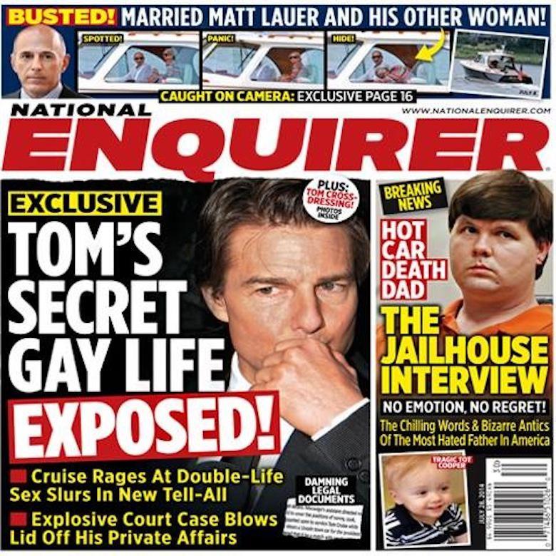 """""""Tom Cruise jest gejem"""" – National Enquirer"""