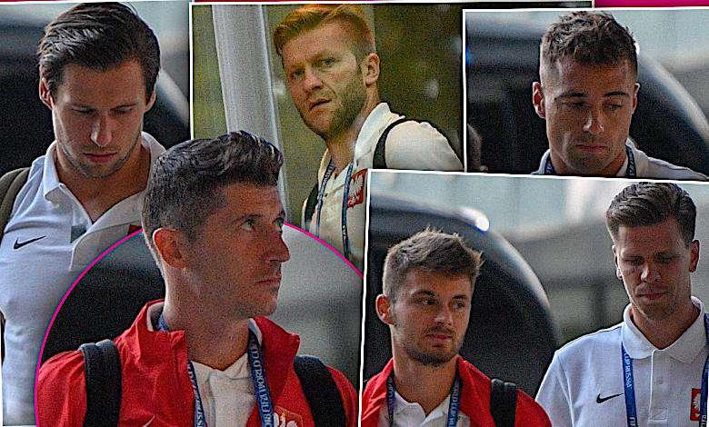 Aż przykro patrzeć. Załamani piłkarze wracają do hotelu po koszmarnym meczu z Kolumbią: Lewandowski, Krychowiak, Szczęsny [DUŻO ZDJĘĆ]
