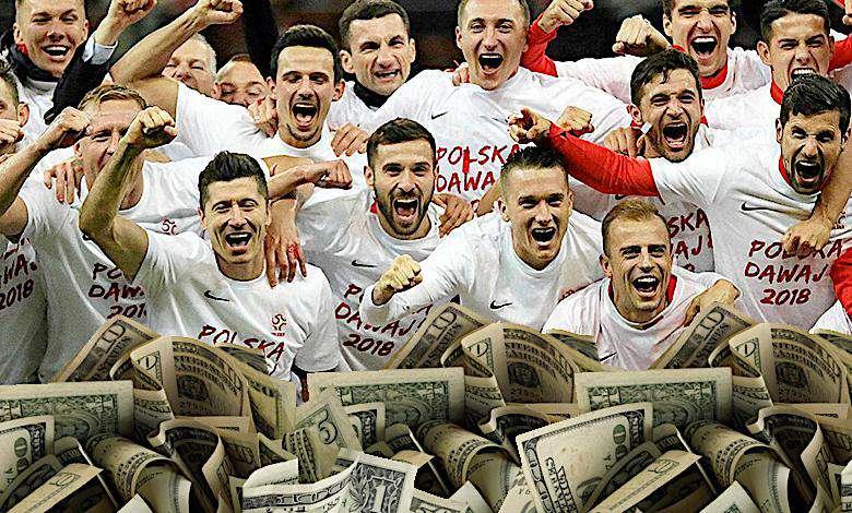 FIFA nieźle zapłaci Polakom za porażkę! Znamy wysokość premii dla naszych piłkarzy za Mundial 2018!
