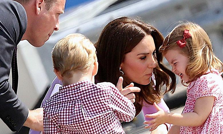 Księżna Kate, książę William, dzieci George i Charlotte