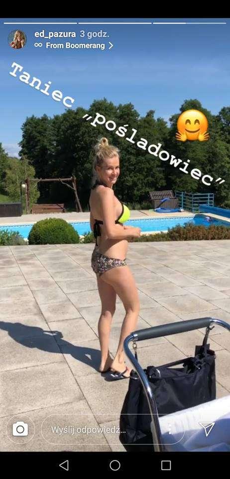 Edyta Pazura w bikini miesiąc po porodzie
