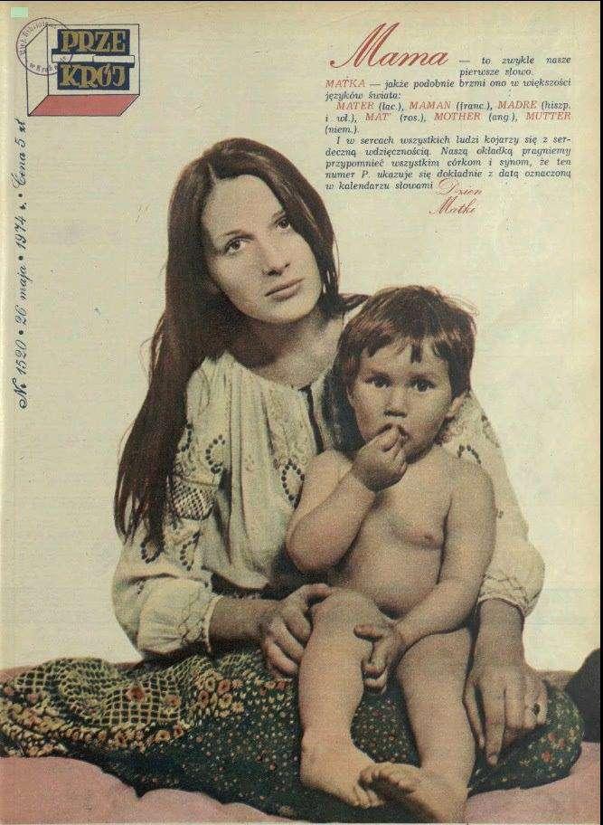 Kora z synem Mateuszem na okładce Przekroju – 26 maja 1974 roku