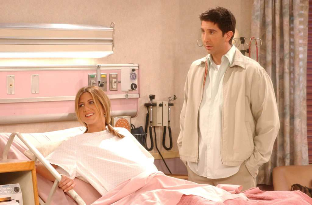 Jennifer Aniston i David Schwimmer w serialu
