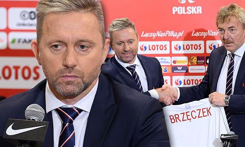 Jerzy Brzęczek i Zbigniew Boniek na konferencji prasowej
