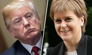 Nicola Sturgeon i Donald Trump