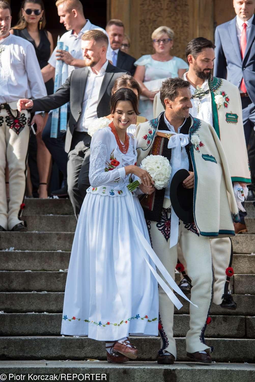 Paulina Krupińska w sukni ślubnej