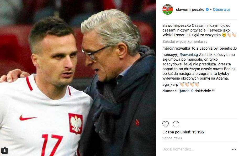 Sławomir Peszko pożegnał Adama Nawałkę