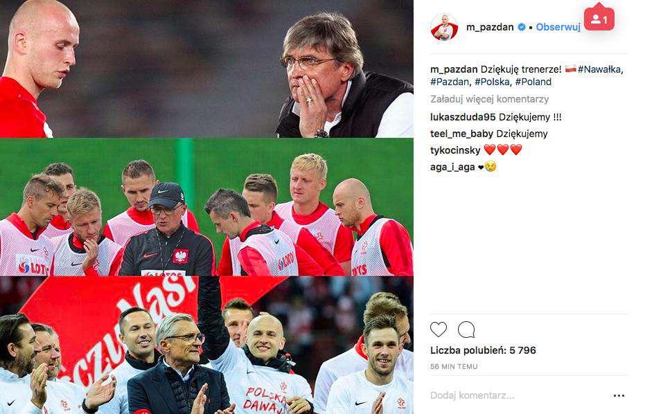 Michał Pazdan pożegnał Adama Nawałkę