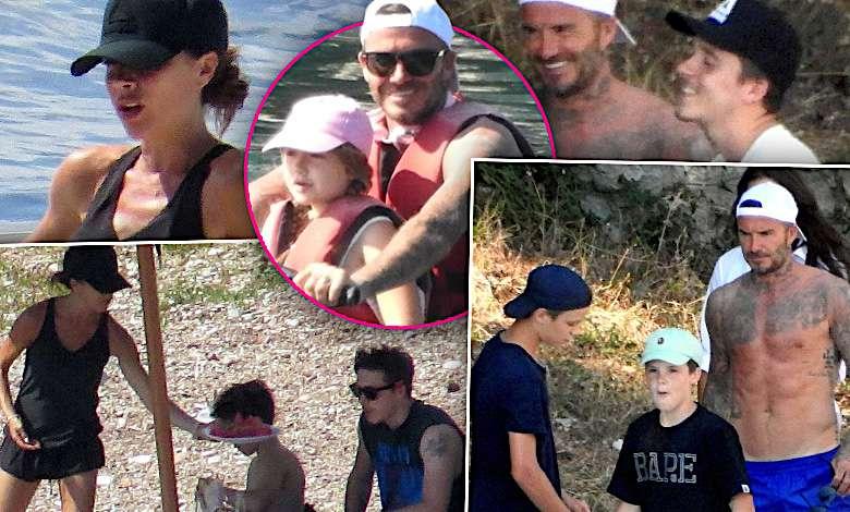 Beckhamowie przyłapani na wakacjach: Victoria na sportowo i David w roli troskliwego tatusia. Paparazzi zrobili genialne zdjęcia z ukrycia!