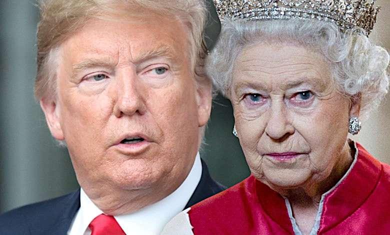 Donald Trump i królowa Elżbieta II