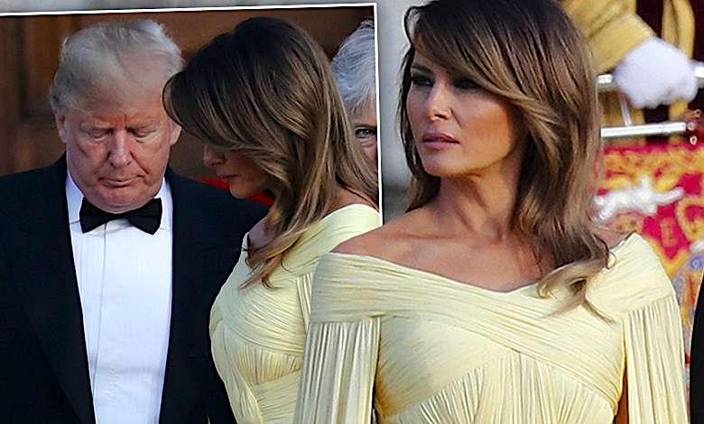 Melania Trump żółta sukienka Londyn