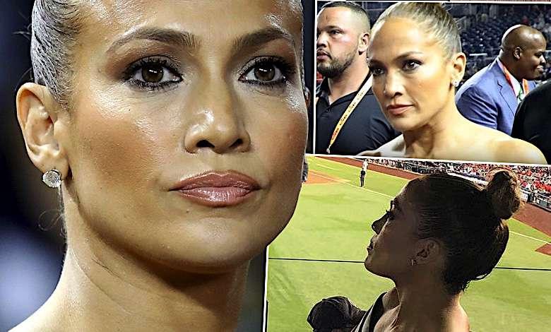Jennifer Lopez wystroiła się na randkę i wylądowała na meczu. Naburmuszona gwiazda ledwo mogła się poruszać w swojej obcisłej kreacji