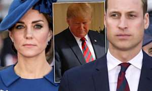Księżna Kate, książę William, Donald Trump
