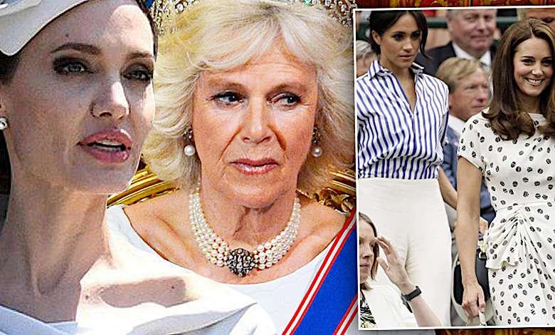 Angelina Jolie i księżna Camilla, Kate i Meghan