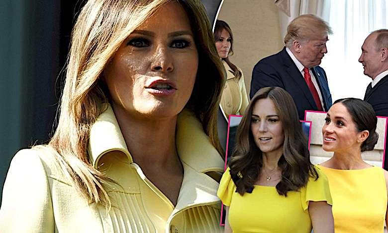 Melania Trump w żółtej sukience na spotkaniu z Putinem