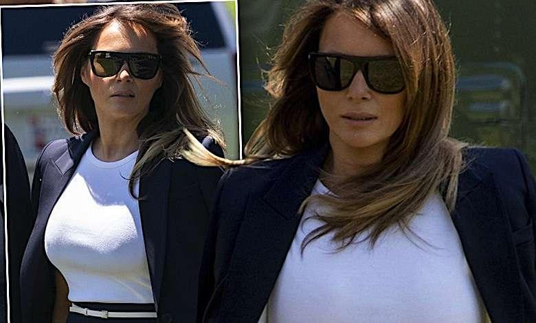 Melania Trump – komplet od Michaela Korsa