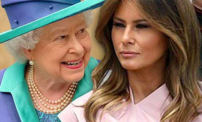 Melania Trump, królowa Elżbieta II