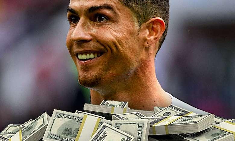 Cristiano Ronaldo pieniądze, zarobki