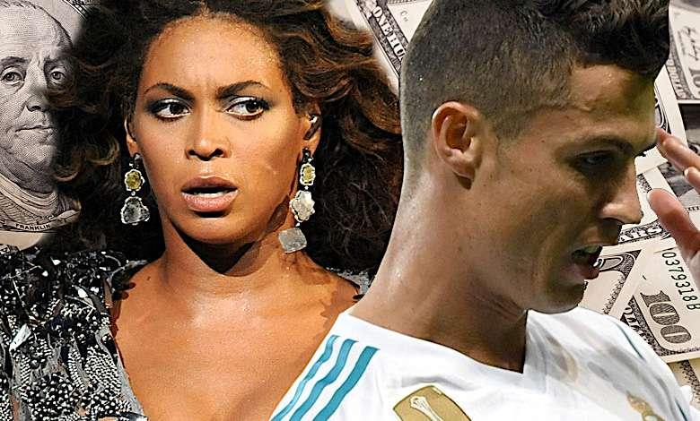 Cristiano Ronaldo, Beyonce, Forbes