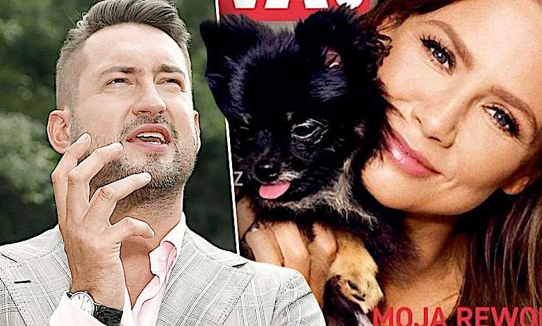 Marcin Prokop pocałował psa Kingi Rusin