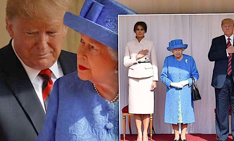 Donald Trump i Melania u królowej Elżbiety II