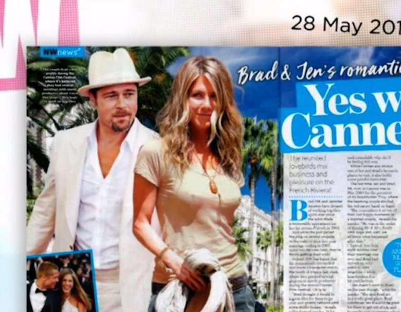 Jennifer Aniston i Brad Pitt na randce w Paryżu