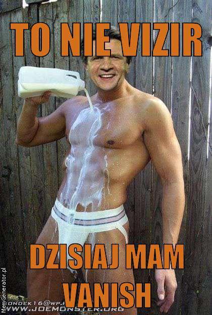 Reklama proszku do prania Vizir z Zygmuntem Chajzerem – memy