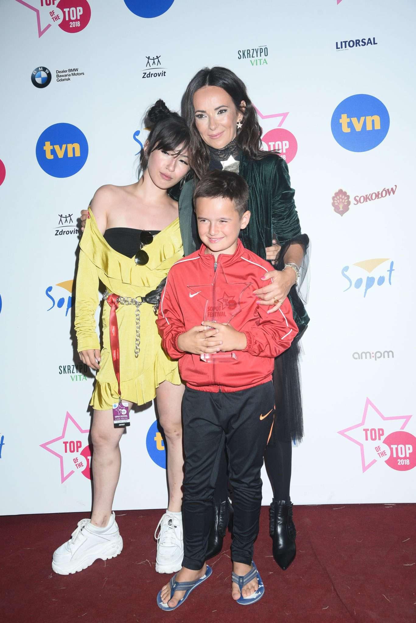 Kasia Kowalska z dziećmi, córką Olą i synem Ignacym – Top of the Top 2018 Sopot Festival