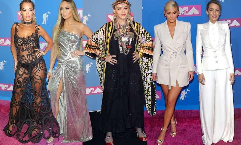 Tłum gwiazd na rozdaniu nagród MTV Video Music Awards 2018: Madonna, Kylie Jenner, Rita Ora, Blake Lively, Jennifer Lopez
