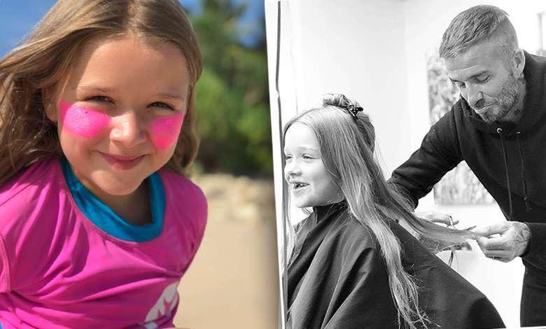 Nowa fryzura Harper Beckham