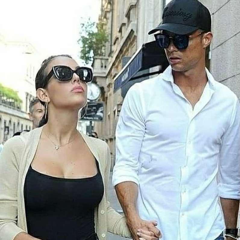 Cristiano Ronaldo przyłapany na zakupach z Georginą Rodriguez