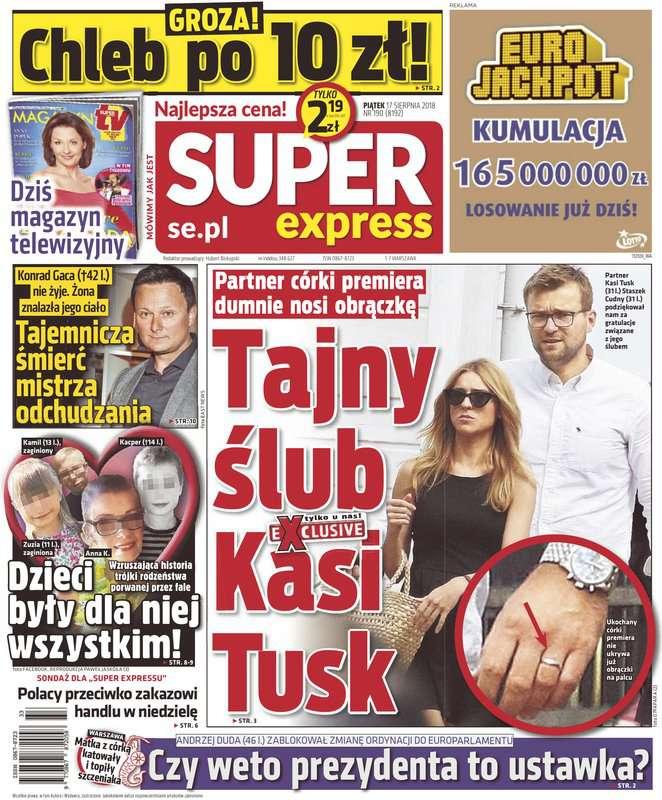 Kasia Tusk i Stanisław Cudny są już po ślubie?