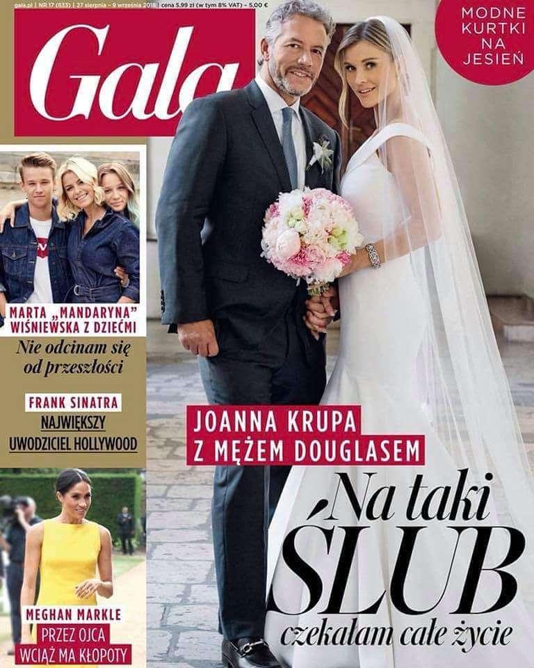 Ślubna sesja Joanny Krupy w magazynie Gala