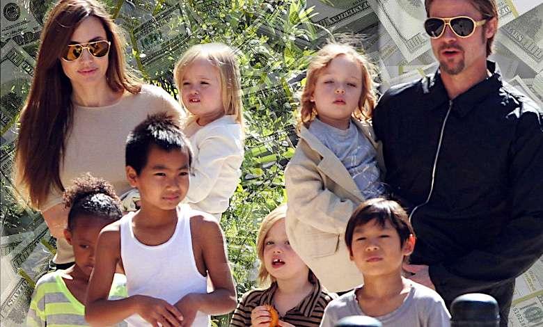 Ile Angelina Jolie i Brad Pitt wydają na dzieci?