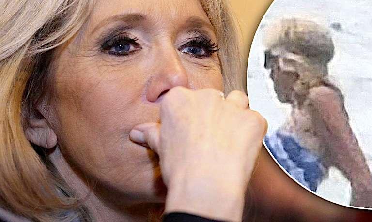 HIT! Paparazzi przyłapali 65-letnią Brigitte Macron w bikini na igraszkach z Emmanuelem!