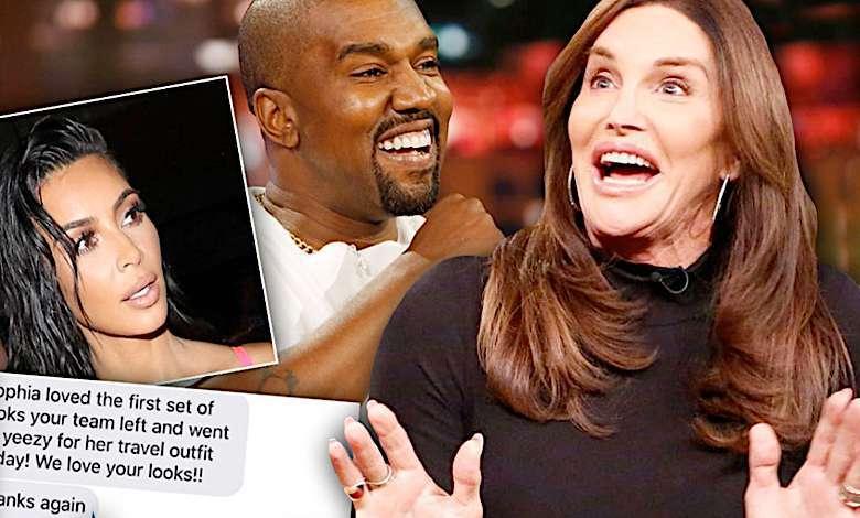 Caitlyn Jenner partnerka SMS Kanye West