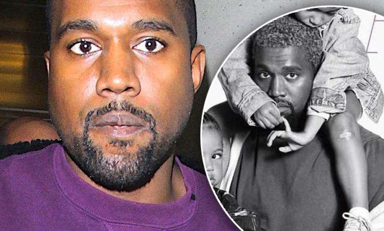 Kanye West z dziećmi sesja