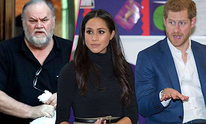 Meghan Markle, książę Harry, Thomas Markle