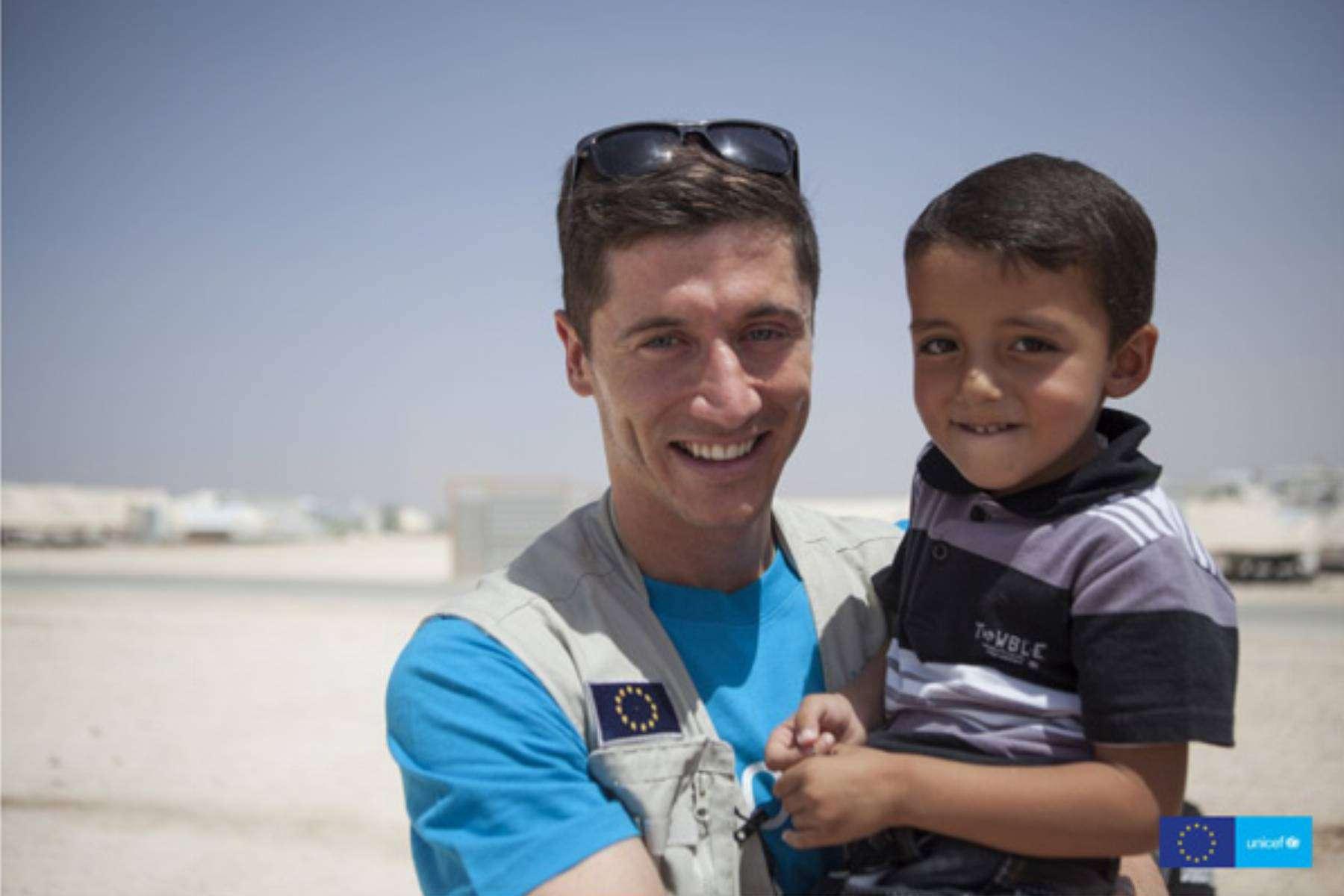 Robert Lewandowski wspiera UNICEF